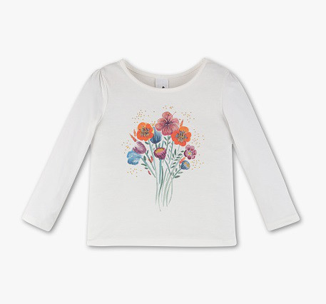 Белый реглан с цветами для девочки 8-9 лет C&A Германия Размер 134