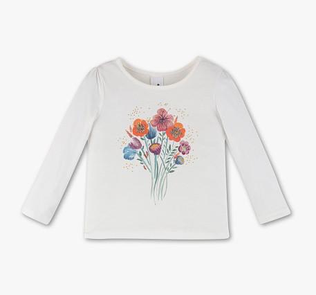 Реглан білий з квітами для дівчинки 8-9 років C&A Німеччина Розмір 134