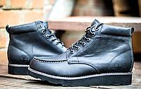 Ботинки мужские Timberland черные прошитый носок