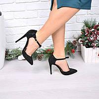 Туфли женские на шпильке Sninngs черные
