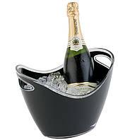 Ведро для льда, чаша для охлаждения шампанского 7л, чёрная