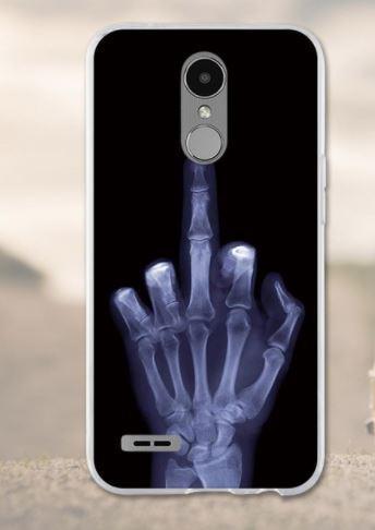 Бампер оригинальный чехол с принтом для LG K10 2017 / M250 Рентген