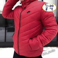 Мужская зимняя курточка Nike красная