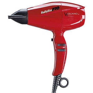 Профессиональный фен BaByliss Pro Vulcano V3 Ionic BAB6180IRE 2200W красный