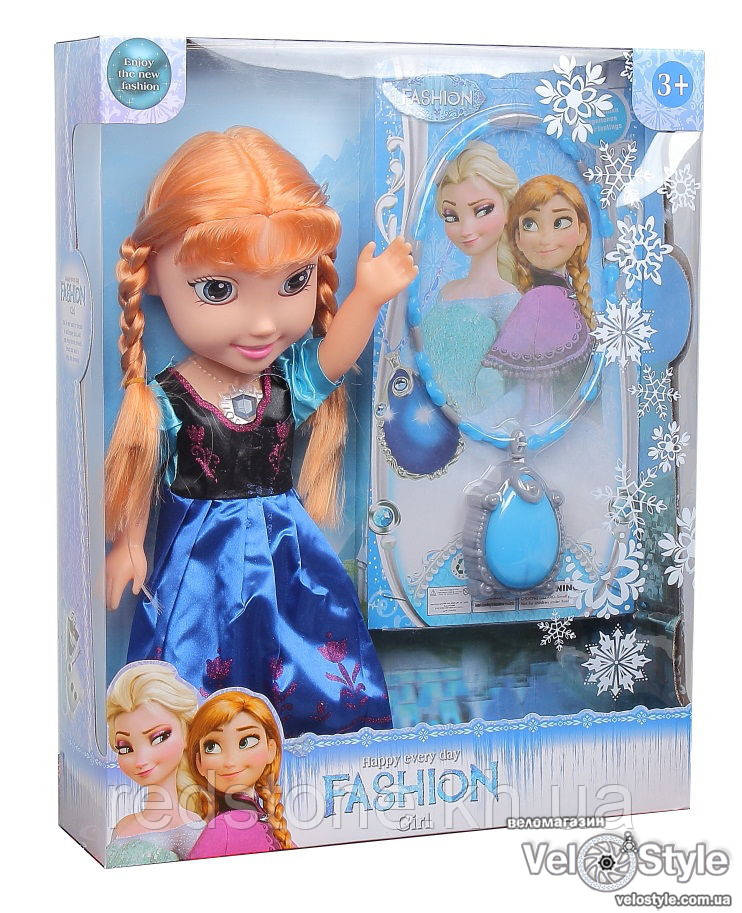 Кукла Frozen Фрозен Холодное сердце Анна ожерелье звук свет