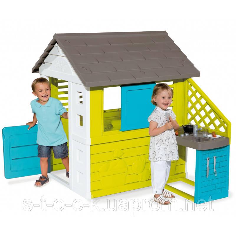 Детский летний домик с кухней Smoby 810703