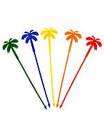 Пальма мешалка 24см. 100шт. цветная