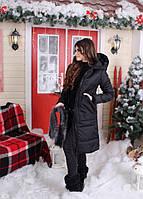 Зимнее пальто на меху женское ботал РУС5063, фото 1