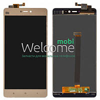 Дисплей Xiaomi Mi4s with touchscreen gold orig (LCD TEST)