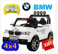 Детский электромобиль Джип BMW OPT-M 3118ABR-1(пульт-2,4G,колеса ЕВА,4мотора 45W,12V/10AH,двери открываются, USB,MP3)