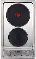 Варочная поверхность электрическая Ventolux HE302 2 (Домино, 30 см, 2 зоны нагрева) нержавейка