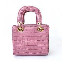 Розовая лаковая сумка, сумка крос-боди, клатч