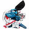 Торцовочная пила с протяжкой Boxer BX-2078 стусло с лазером и LED, поворотная торцевая пила торцовка по дереву, фото 4
