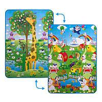 Детский двусторонний коврик Большой жираф и Парк развлечений Limpopo (LP004-120)