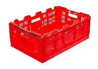 Ящики пластик складывающиеся 600 х 400 х 230 Красный