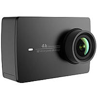 ϞЭкшн-камера Xiaomi Yi 4K Black матрица 12,35 Мп Sony IMX377 угол обзора 160 градусов H.264 ударостойкая