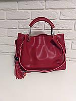 "Женская кожаная сумка ""Nobility"" красная"