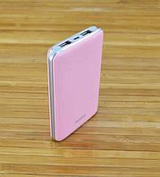 Аккумулятор для телефона Повербанк, Power Bank  REMAX Розовый TIGER 5000 mAh