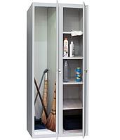 Шкаф хозяйственный металлический ШМХ400/2, шкаф для одежды, хозяйственного инвентаря, моющих средств