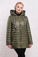 Модная демисезонная куртка 48208 оливка