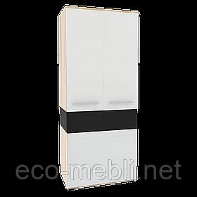 Шафа 2Д Neone 9 дуб сонома / білий глянець