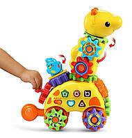 Vtech игрушка Жираф интерактивный развивающий с шестеренками витеч на колесах 80-199100
