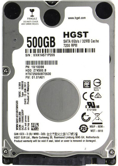 "Жесткий диск  2,5"" 500GB Hitachi  (Z7K500.B HGST)"