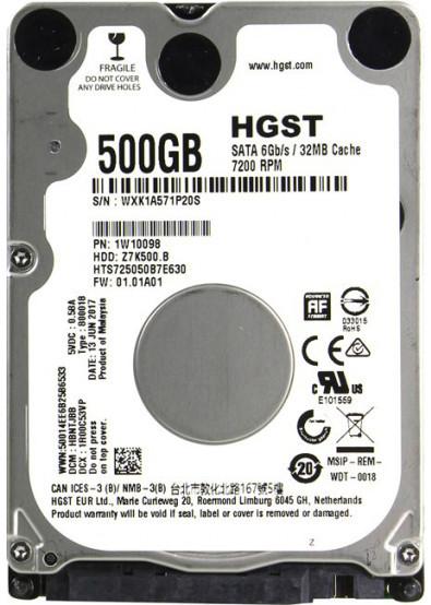 "Жесткий диск (HDD) 2,5"" 500GB Hitachi (Z7K500.B HGST)(7200RPM/32M/SATA III)"