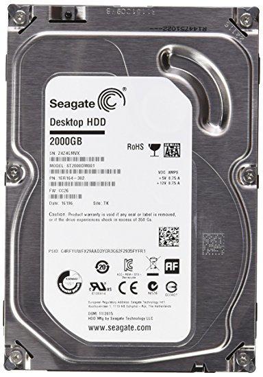 "Жесткий диск (HDD) 3.5"" 2TB Seagate Barracuda (ST2000DM001) (7200RPM/64M/SATA III)"