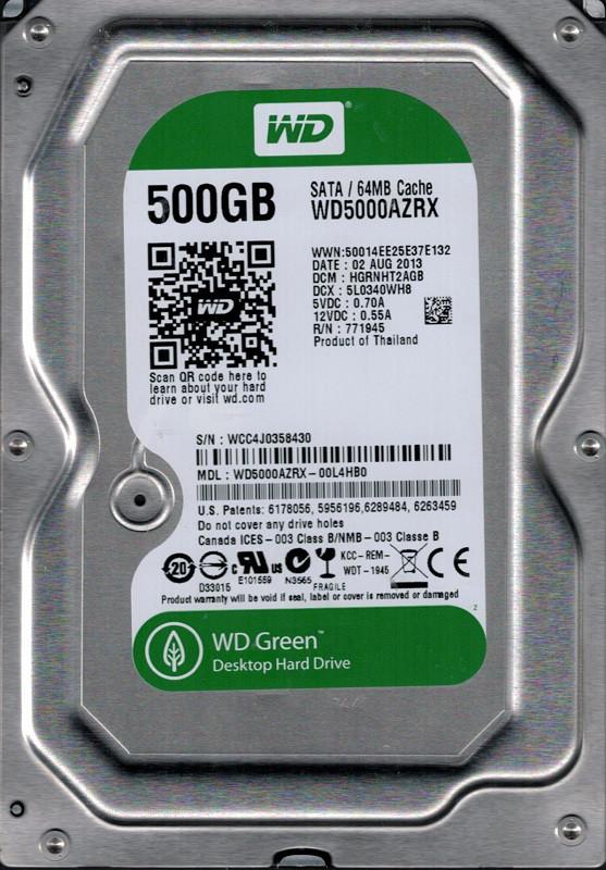 "Жесткий диск 3.5"" 500GB Western Digital (WD5000AZRX)64M"