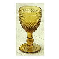 """Бокалы для вина золотистые 6 шт, 250 мл """"Амбер"""" ( набор бокалов )"""