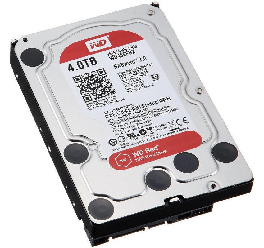 """Жесткий диск (HDD) 3.5"""" 4TB Western Digital (WD40EFRX)(SATA III)"""