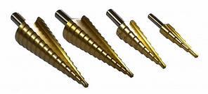 Сверла, конические, ступенчатые комплект 4 шт, фото 2