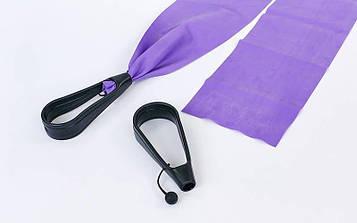 Стрічки-еспандери з ручками для пілатесу (3шт) PS (латекс, р-р 120см x 15см x 0,65;0,5;0,35 мм)
