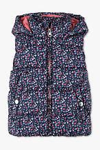Теплая демисезонная жилетка в цветочки на девочку C&A Германия Размер 104
