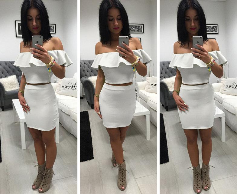 Костюм майка топ баска + юбка - Інтернет-магазин жіночого одягу  Feshion-ledi в 31bff1aceadd1