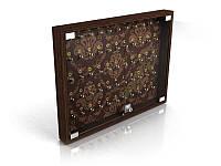 Ключница на стену для гостиницы на 66 ключей, 880х800 мм (Вид крючков: Крючок с акрила;  Цвет ДСП: Алюминий;), фото 1