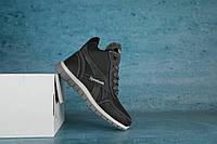 Детские зимние ботинки Reebok  черный\серый