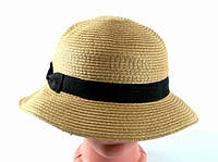 Соломенная шляпа Двадцатые 28 см светло-коричневая