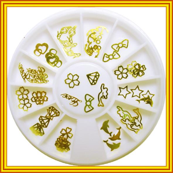 Фигурки Украшения для Ногтей Металлические Золотого Цвета в Карусели от Компании Маргарита Днепр