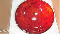 Умывальник стеклянный круглый 420 мм (Самоцветы), фото 1