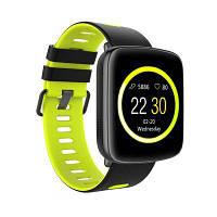 Kingwear GV68 смарт часы со съемным ремешком и влагозащитой ip68 черно-зеленый