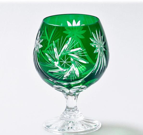 Набор коньячных бокалов из зеленого хрусталя Julia FK1828 (6 штук/280 мл)