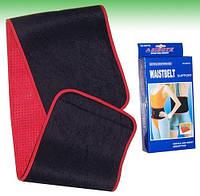 Пояс для похудения  (80% неопрен, 20% эластан, р-р L-24см x 105см x 3мм, черный-красный)
