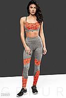 Размер М Женский тренировочный костюм 23955, костюм для занятий фитнесом,в спортзале Gepur