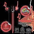 Наушники с микрофоном Promate Brazen Red, фото 2