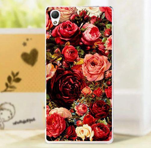 Оригинальный чехол панель накладка для Sony Xperia X с картинкой Розы