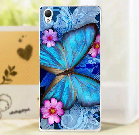 Оригинальный чехол панель накладка для Sony Xperia L1 g3312 с картинкой Бабочка