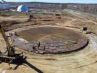 Монтаж основания и днища резервуаров