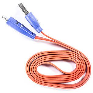 Кабель Lesko microUSB/USB 1m Красный USB с подсветкой для смарфона планшета навигатора, фото 2